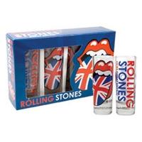 Набор из 4-х ликерных стаканчиков Rolling Stones - Union Jack