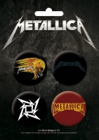 Набор из 4-х значков Metallica - Big M
