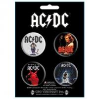 Набор из 4-х значков AC/DC - Black